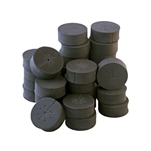 "30 Pack 2"" Black xGarden Clone Collars - Advanced Spoke Design - Premium Neoprene Inserts for Net Pots and Cloning Machines"