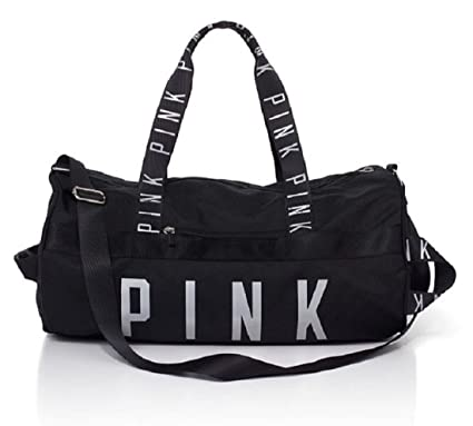 0cfbfbeb98 Image Unavailable. Image not available for. Color  Victoria s Secret Pink  Gym Duffle Bag- Black