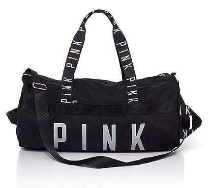 Image Unavailable. Image not available for. Color  Victoria s Secret Pink Gym  Duffle Bag- Black