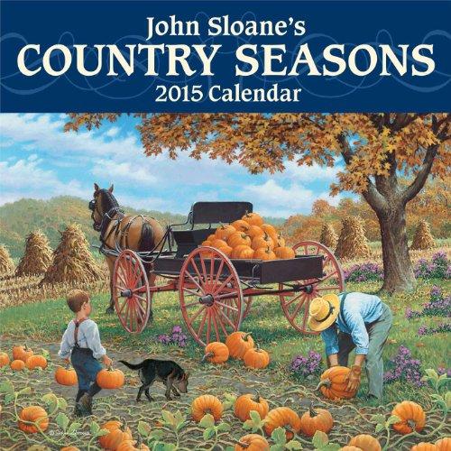 John Sloane's Country Seasons 2015 Mini Wall - Calendars Wall Art Folk 2015