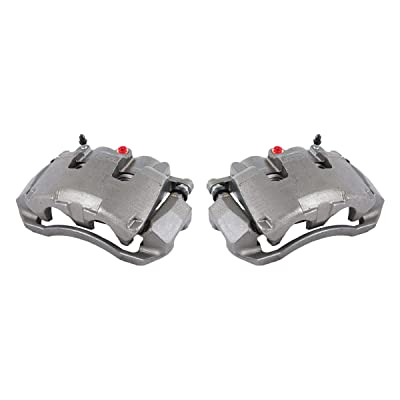 CCK11670 [2] FRONT [ 2WD 4WD ] Premium Grade OE Semi-Loaded Remanufactured Caliper Assembly Pair Set: Automotive