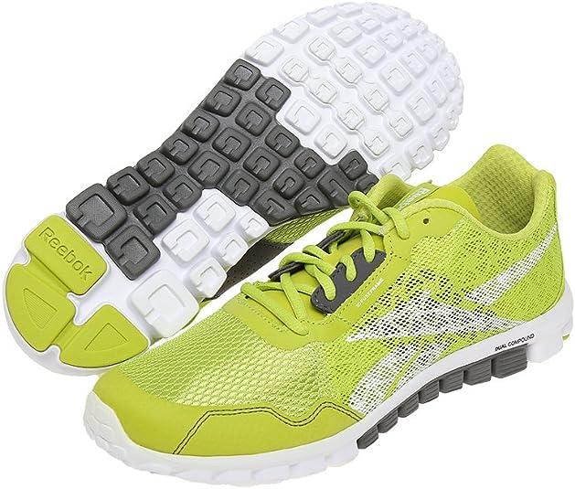 Reebok - Zapatillas de Running para Hombre Verde Verde, Color Verde, Talla EUR 42: Amazon.es: Zapatos y complementos