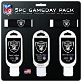 NFL Oakland Raiders Game Day 5-Pack with 2 Lip Balms, 2 Hand Sanitizers, 1 Hand Lotion