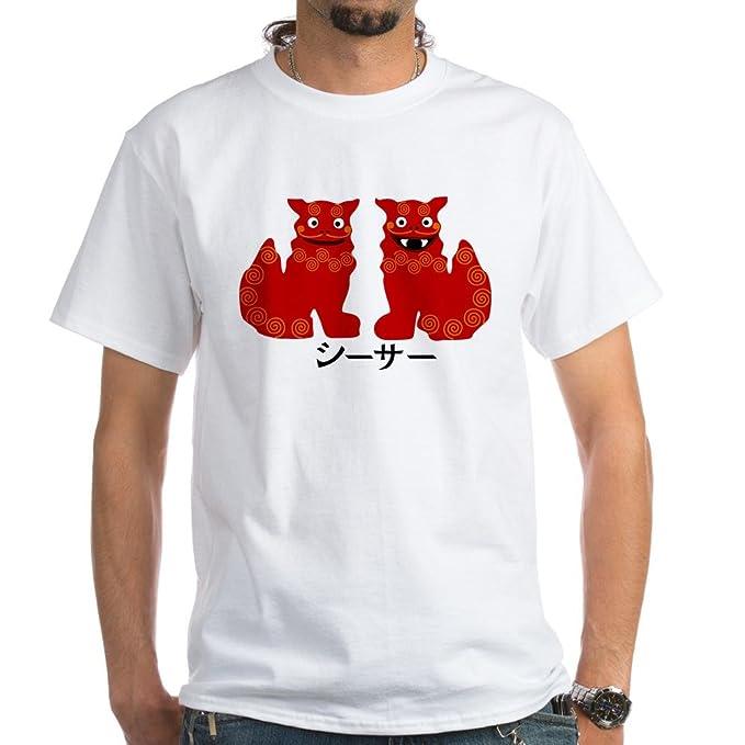 b1aa22fab Amazon.com: CafePress Okinawa Shisa - T-Shirt 100% Cotton T-Shirt ...