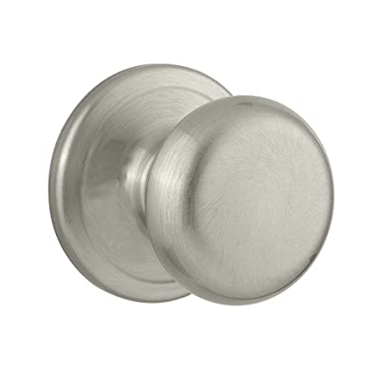 Kwikset Juno Hall/Closet Knob in Satin Nickel - Satin Closet Door ...