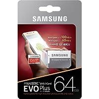 Samsung MB-MC64GA/EU EVO Plus Scheda MicroSD da 64 GB, UHS-I, Classe U3, fino a 100 MB/s di Lettura, 60 MB/s di Scrittura, Adattatore SD Incluso [Vecchio Modello]