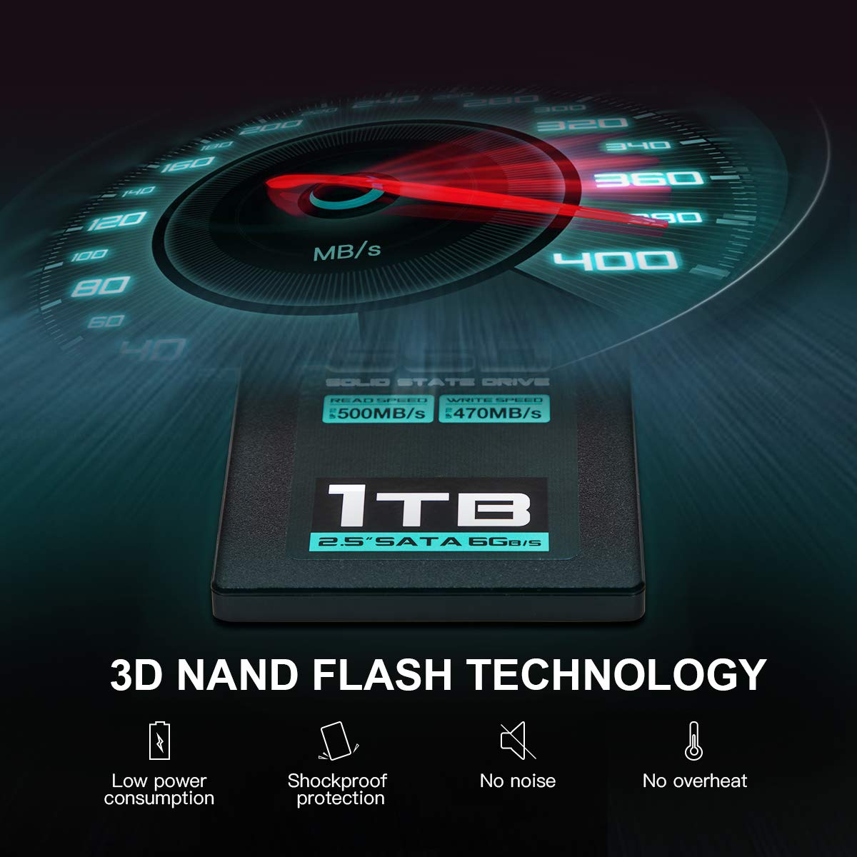Inland Professional 1TB SSD 3D NAND SATA III 6Gb/s 2.5'' 7mm Internal Solid State Drive (1T) by INLAND (Image #4)