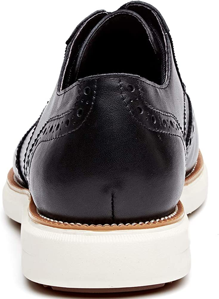 HYF Mens Burnished Smooth PU Leather Shoes Classic Lace Up Business Tuxedo Oxfords Breathable Color : Blue, Size : 6MUS