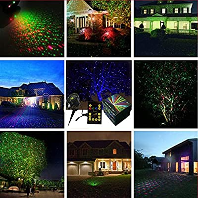 Full Motion Firefly Holiday Laser Light RGB Red Green Blue Dynamic Moving Landscape Projector Lights IP65 Waterproof for Patio Lawn Garden Porch Yard Parties Stage Decor Spotlights with Remote