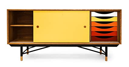 Modern Sideboard amazon com kardiel 1955 color theory mid century modern sideboard