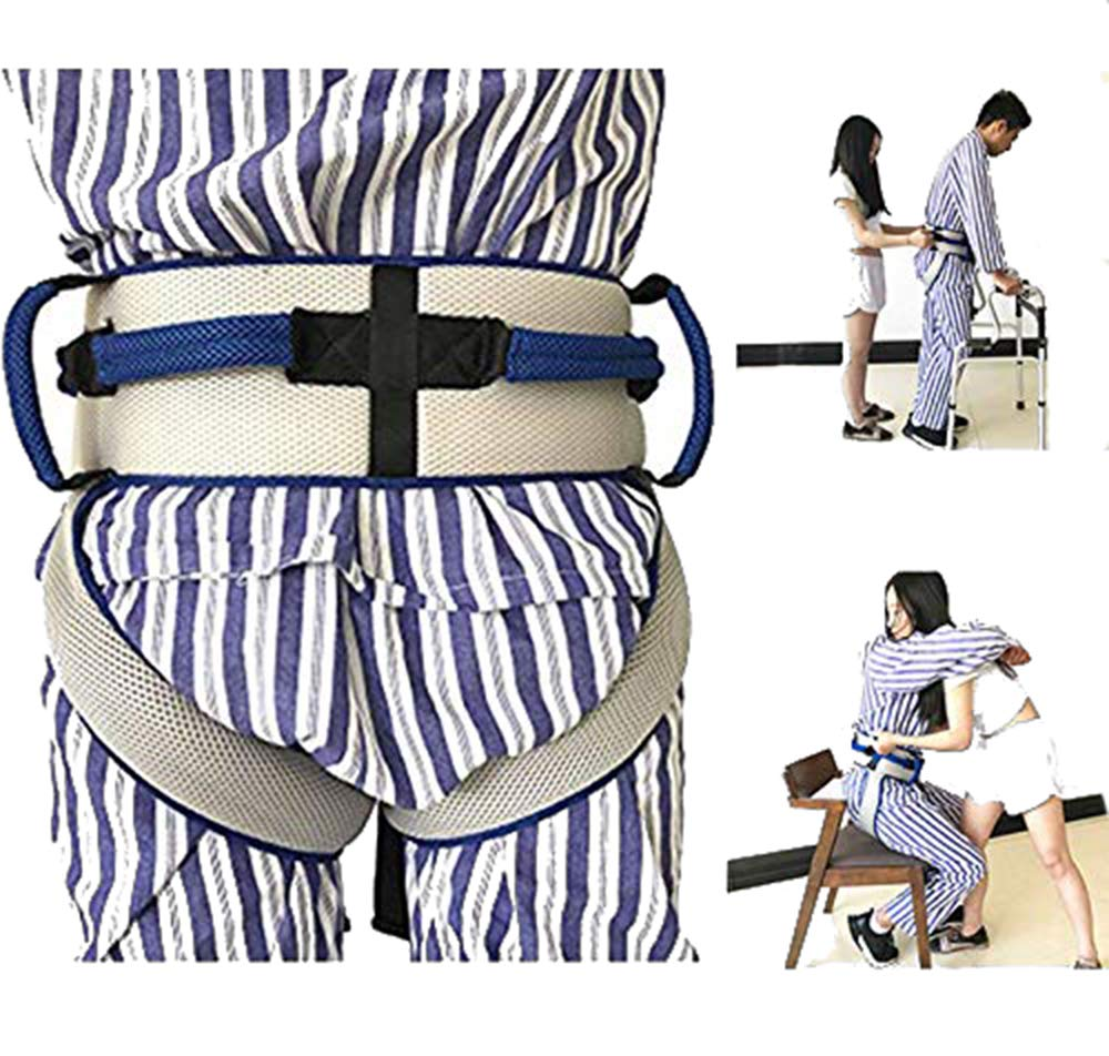 Transfer Belt With Leg Loops,transfer Sling - Medical Safety Gait Assist Device, Breathable Material Adjustable