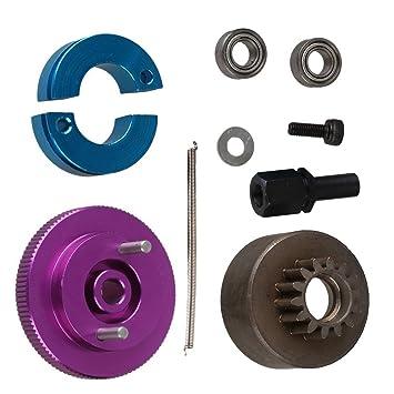 yiguo RC 1: 10 coche actualizar partes morado aleación de aluminio embrague 14t volante Set t10093: Amazon.es: Juguetes y juegos