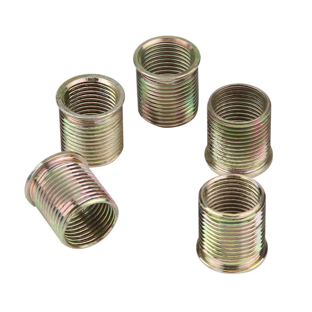 Herramienta de reparación de roscas de bujía GOTOP, 16 Piezas de 14 mm x 1,25, Kit de Herramientas de reparación de roscas de bujía, Hecho de Acero M16 ...