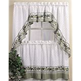 CHF & You Cotttage Ivy Country Curtain Tier And Swag Set, Multi, 56-Inch X 24-Inch