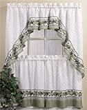 Country Curtains CHF & You Cottage Ivy Country Curtain Tier And Swag Set, Multi, 56-Inch X 36-Inch