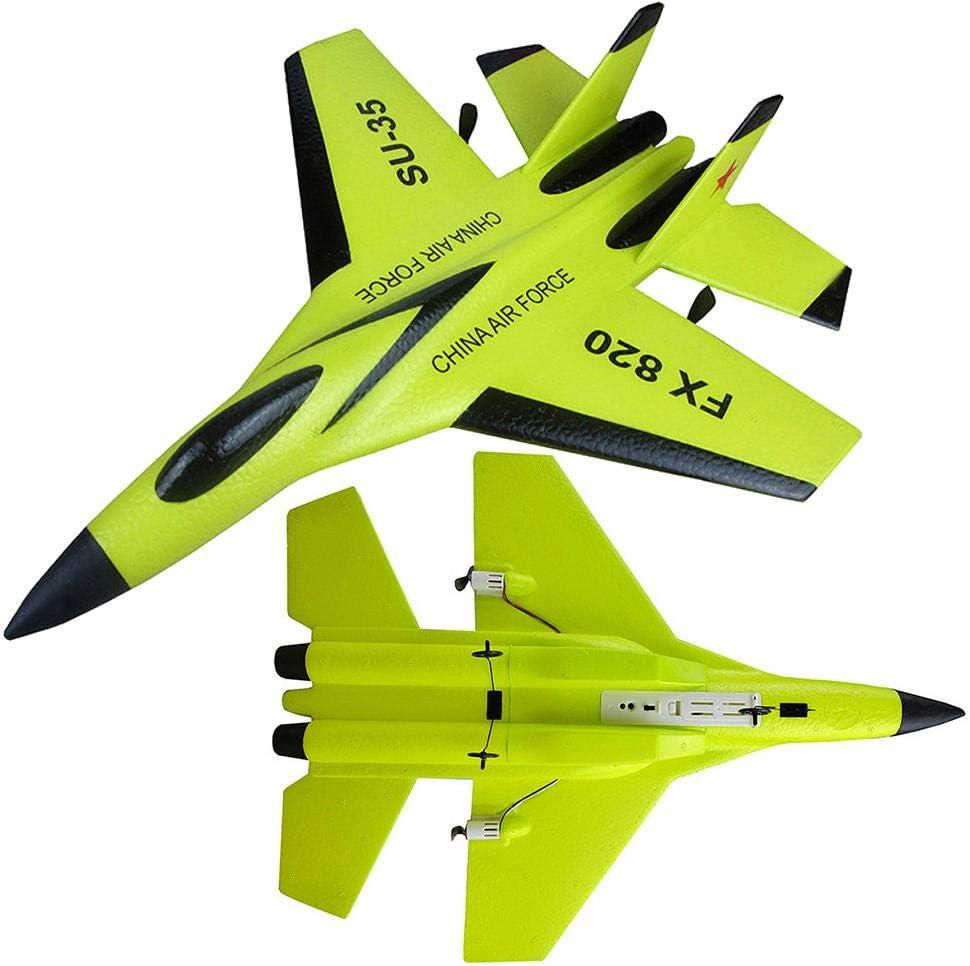 fabristander Control Remoto de Aviones de Carga de Combate Planeador de Espuma 290 mm envergadura 2.4G 2CH Control Remoto Aviones RC