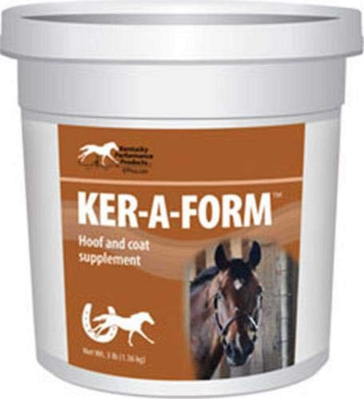 Kentucky Performance Prod 044045 Ker-A Form Coat & Hoof Supplement for Horses, 3 lb : Horse Nutritional Supplements And Remedies : Pet Supplies