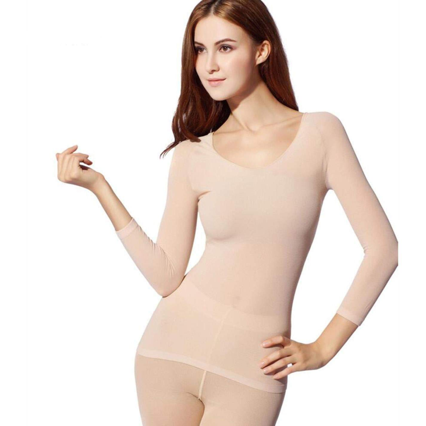 Warm-Mm Women 37 Degree Constant Temperature Thermal Underwear Ultrathin Elastic at Amazon Womens Clothing store: