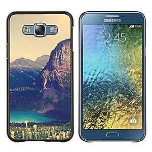 Caucho caso de Shell duro de la cubierta de accesorios de protección BY RAYDREAMMM - Samsung Galaxy E7 E700 - Gran Acantilado Lago