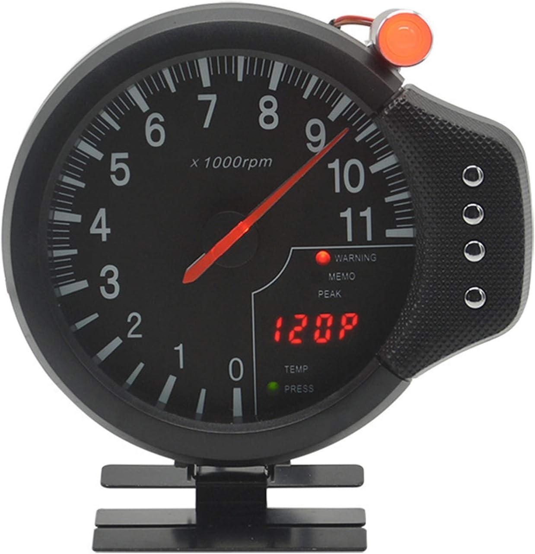 WSYUE-Instrumento 5 Pouces 3-en-1 indicateur de Vitesse de Voiture//temp/érature de leau//jauge de Pression dhuile de Modification pour Bateau Camion de Voiture