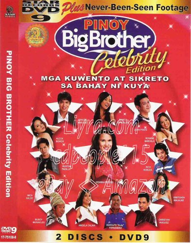 Pinoy Big Brother Celebrity Edition   Philippine Tv Special Dvd