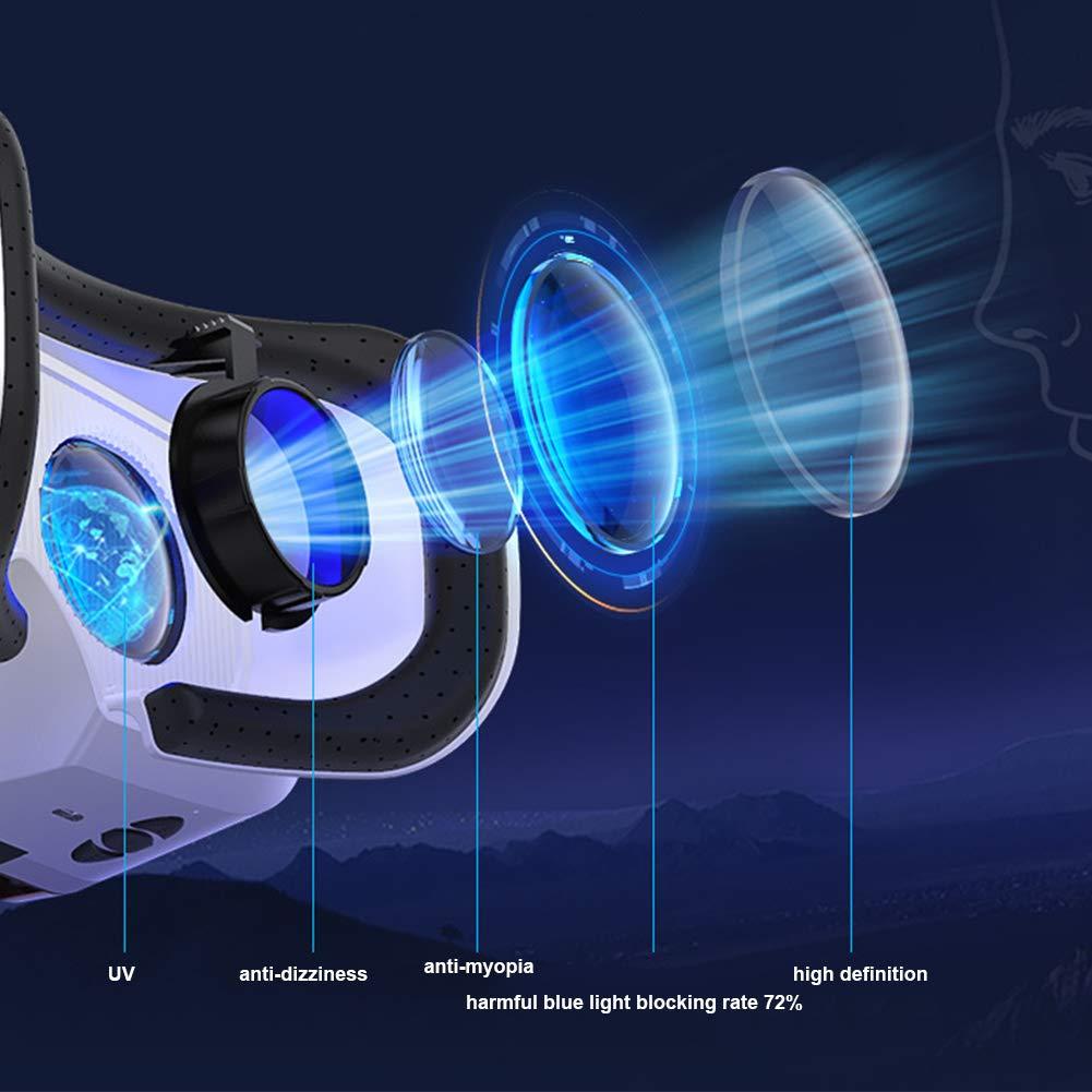 Gafas VR para iPhone y Android Disfruta de los Mejores Juegos y Videos RV G04BS de M/áxima Calidad y con la Mayor Comodidad Gafas Realidad Virtual para Movil 360 y 3D
