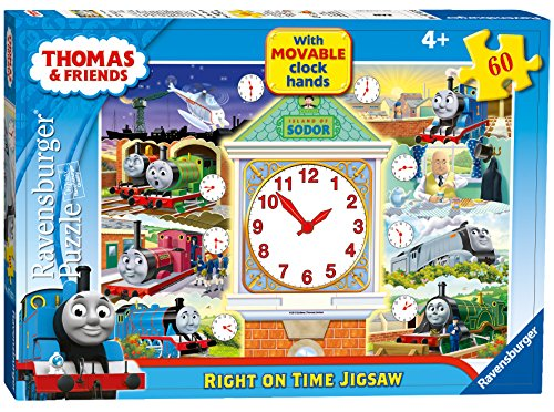 Clock Hands Puzzle - Thomas & Friends Right on Time Puzzle with Movable Clock Hands, 60-Piece