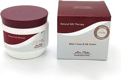 Mi Terapia Seda Natural Profesional Platin Máscara con caviar negro y cabello 500ml proteína de seda