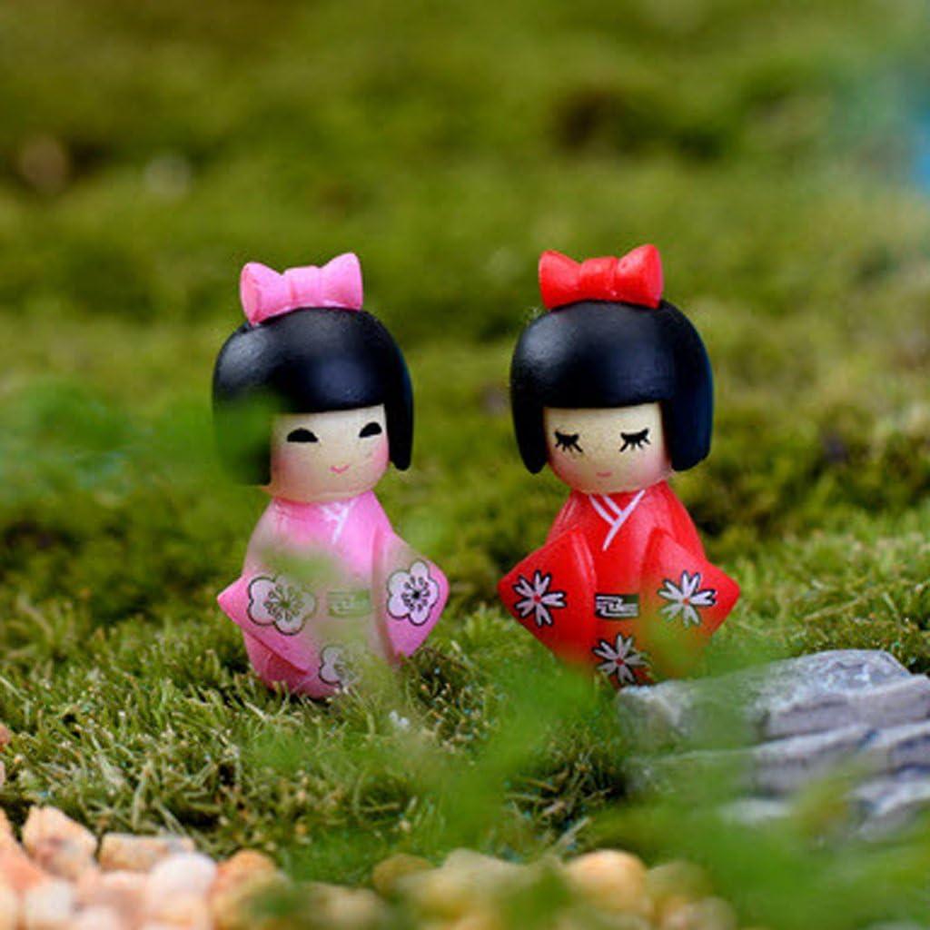 B Blesiya 10 Miniatura Bonsai Mestiere Fata Giardino Paesaggistico Ragazza Fai da Te in Stile Kimono