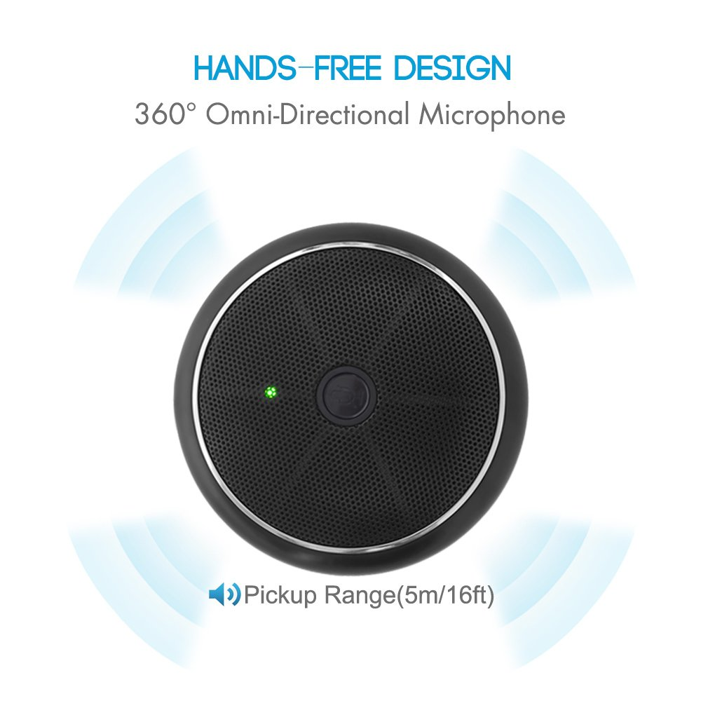 Condenser Boundary Desktop Microphones for Streaming,VoIP Calls,Skype,Chatting Mute Function CMTECK USB Computer Microphone CM003 Omnidirectional Mic for Computers PC Conference Microphone
