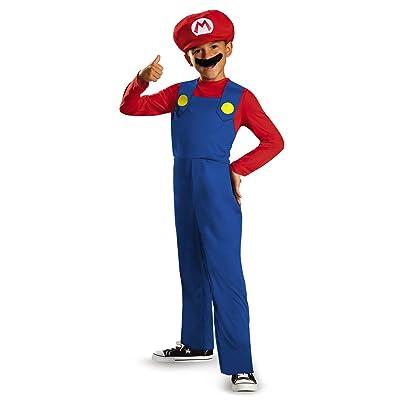 Nintendo Super Mario Brothers Mario Classic Boys Costume, Medium/3T-4T: Toys & Games