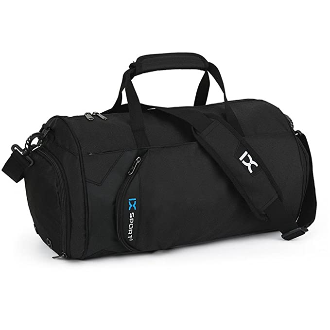 IX Small Sports Gym Bag with Shoe Compartment Weekend Travel Duffel  Carry-on Luggage Bag 3f25016bd306e