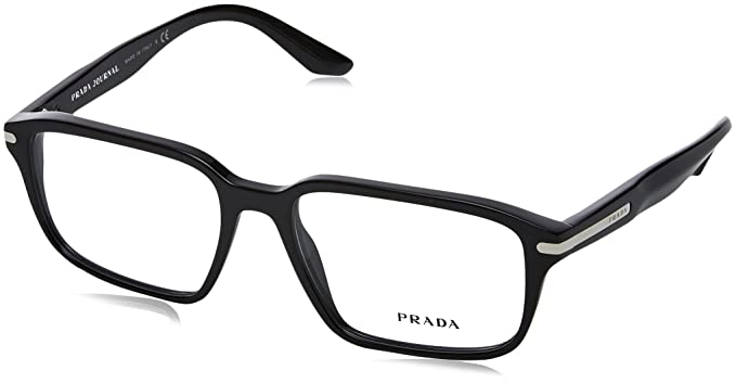 Amazon.com: Prada PR09TV Eyeglass Frames 1AB1O1-55 - Black PR09TV ...
