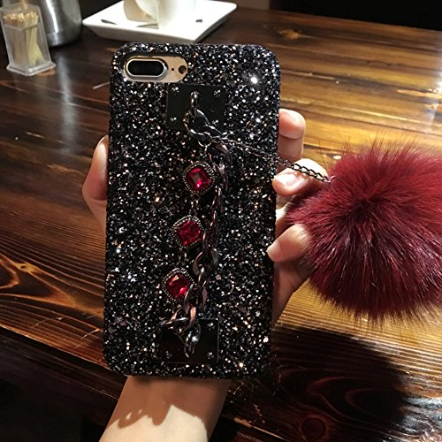 Tianyuanxuan-Iphone 7/8 Plus Plastic Case Crystal Rhinestone Bling Diamonds Glitter Cover for Girl Hard Shell for Iphone 7/ 8 Plus Protector-Red