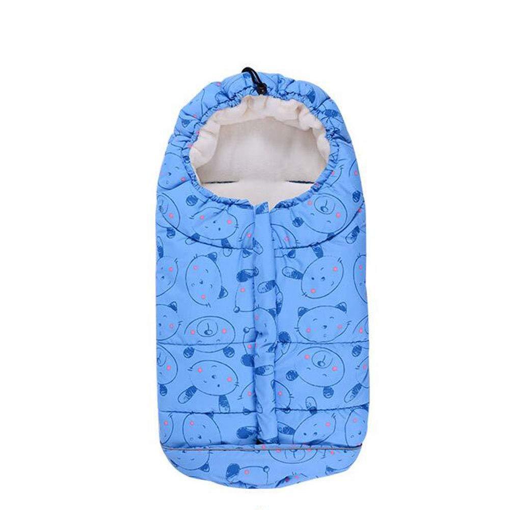 FJY Active Sacco Termico Invernale per Passeggino,Sacco Termico Universale per Passeggino,Ideale per Neonati, Bimbi E Bambini FG001,Bluea,82Cm