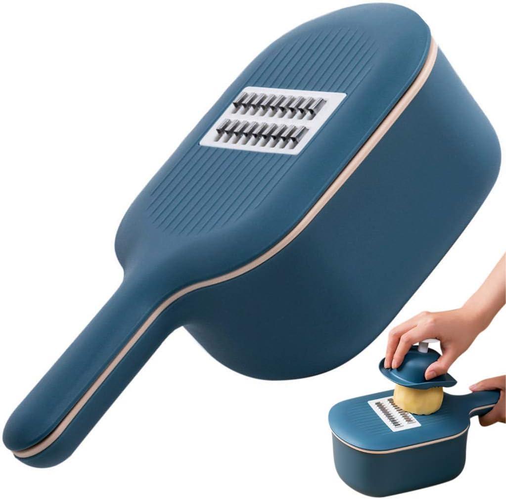 Vegetable Slicer Cutter - Multi Blade Mandoline Slicer - Adjustable Cheese Box Grater Shredder - Veggie Chopper Cutter - Food Slicer & Julienne Peeler - Kitchen Accessories, Tools & Appliances