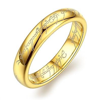 Amazoncom SHARDON Womens 4mm Plating Gold Domed Tungsten Ring