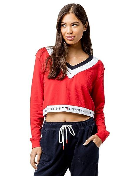 d2034fd54feb Tommy Hilfiger Retro Crop Red Sweatshirt
