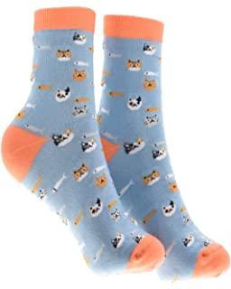 Eradria Girls 5 Pack Cute Cartoon Animal Design Lovely Ankle Cotton Socks,Fits for 7-11 years old Girls