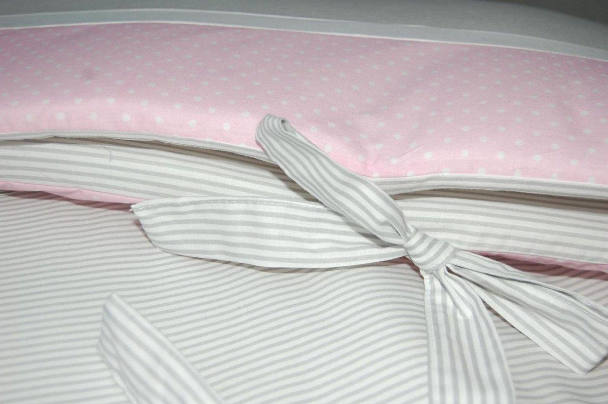 Rayures grises 60x120 cm 4 c/ôt/és Protection d/éhoussable Literie enfant Taille KempKids Tour de lit b/éb/é
