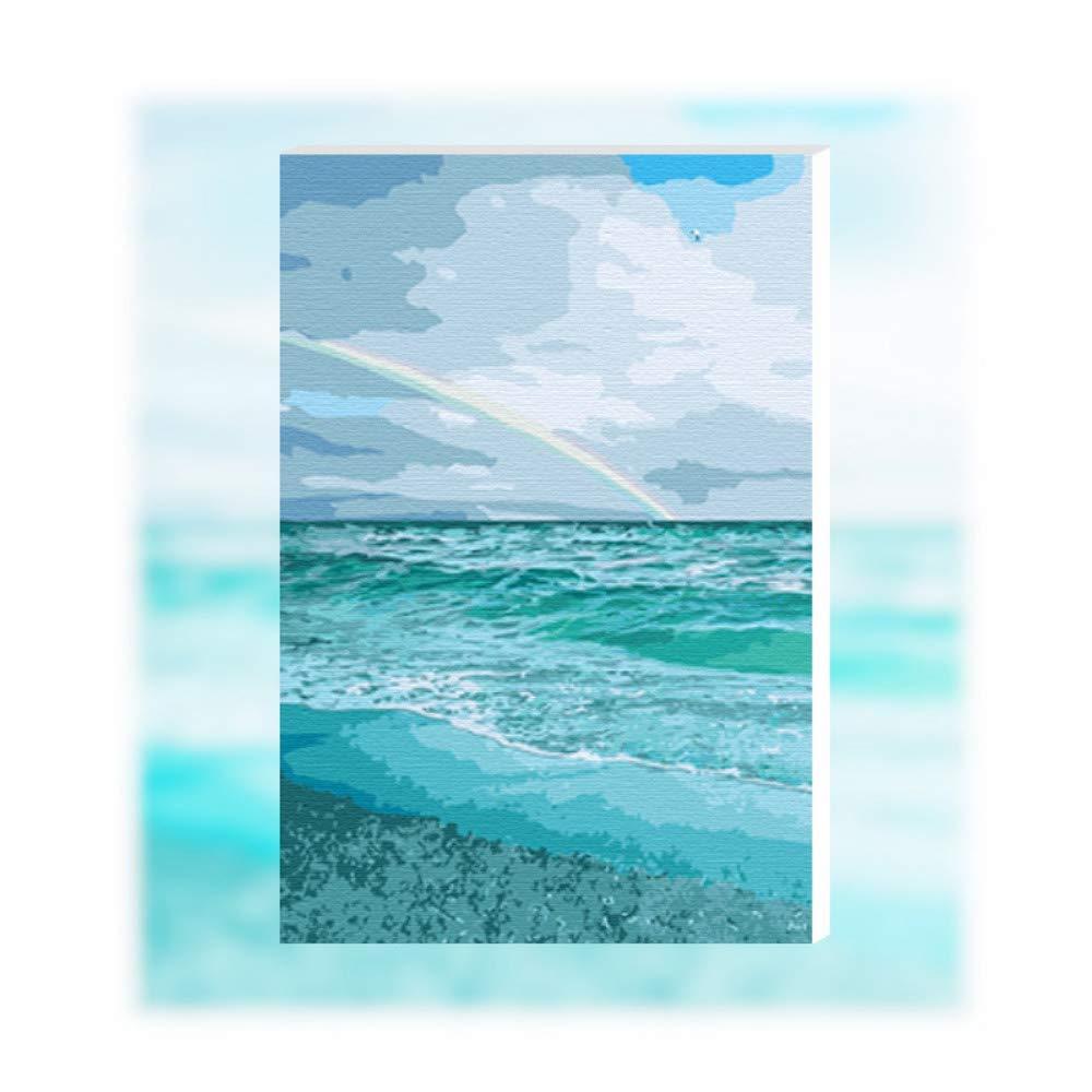 Pmhhc Frameless Malen Nach Zahlen Kunst Malen Nach Zahlen Blaumenfeld Rainbow Ocean Branch Bunte Erröten Gemälde Von Zahlen Mit Ölfarbe B07P65TGMK | Zürich Online Shop