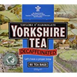 Yorkshire Decaffeinated Tea, 80 Teabags