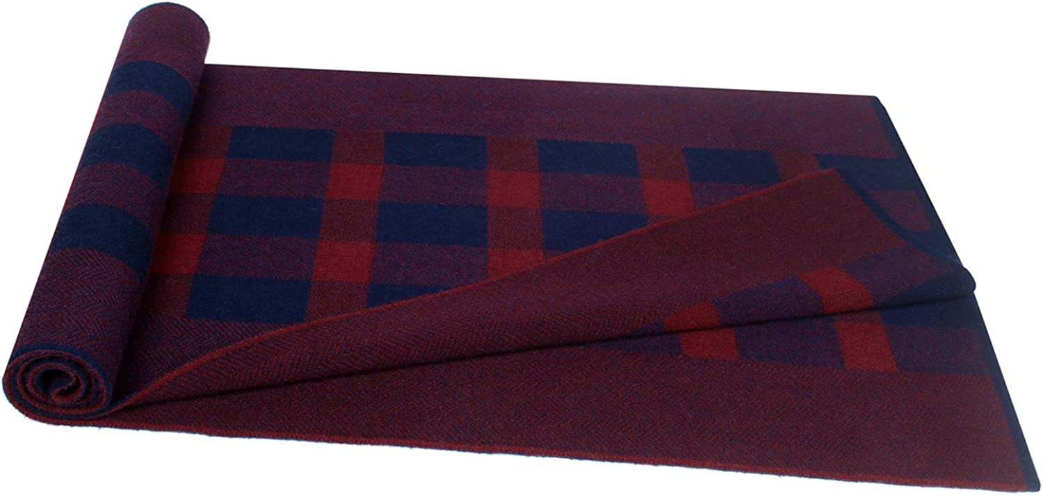 Mens Scarf Cashmere Fashion Scarves for Men Winter Knitted Long 70.8IN 11.8IN Vextrofort