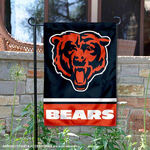 Wincraft Chicago Bears Bear Head Logo Double Sided Garden Flag]()