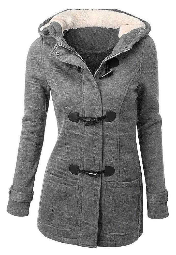 Damen Mantel Warm Plus Mit Samt Beautisun Wollmantel Kaputze iZPXkOuT