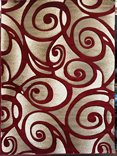 Sculpture Modern Area Rug Red (8′ x 10'6″) Review