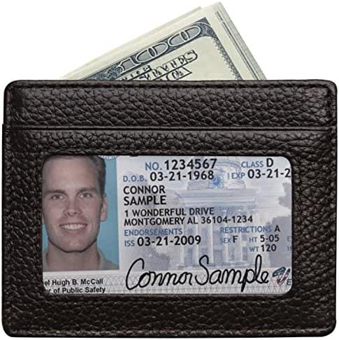 RFID Blocking Leather Wallet, Slim Thin Minimalist Pocket Wallets Card Holder