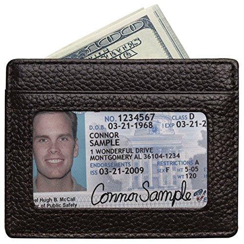 RFID Blocking Leather Wallet, Slim Thin Minimalist Pocket Wallets Card Holder (Rfid Blocking Leather Wallet)