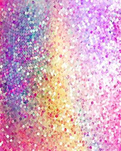 Coloured Glitter - AOFOTO 4x5ft Party Sequins Backdrop Colored Glitter Decoration Photography Background Sweet Sparkles Spangly Paillette Kid Girl Baby Artistic Portrait Photo Shoot Studio Props Video Drop Wallpaper