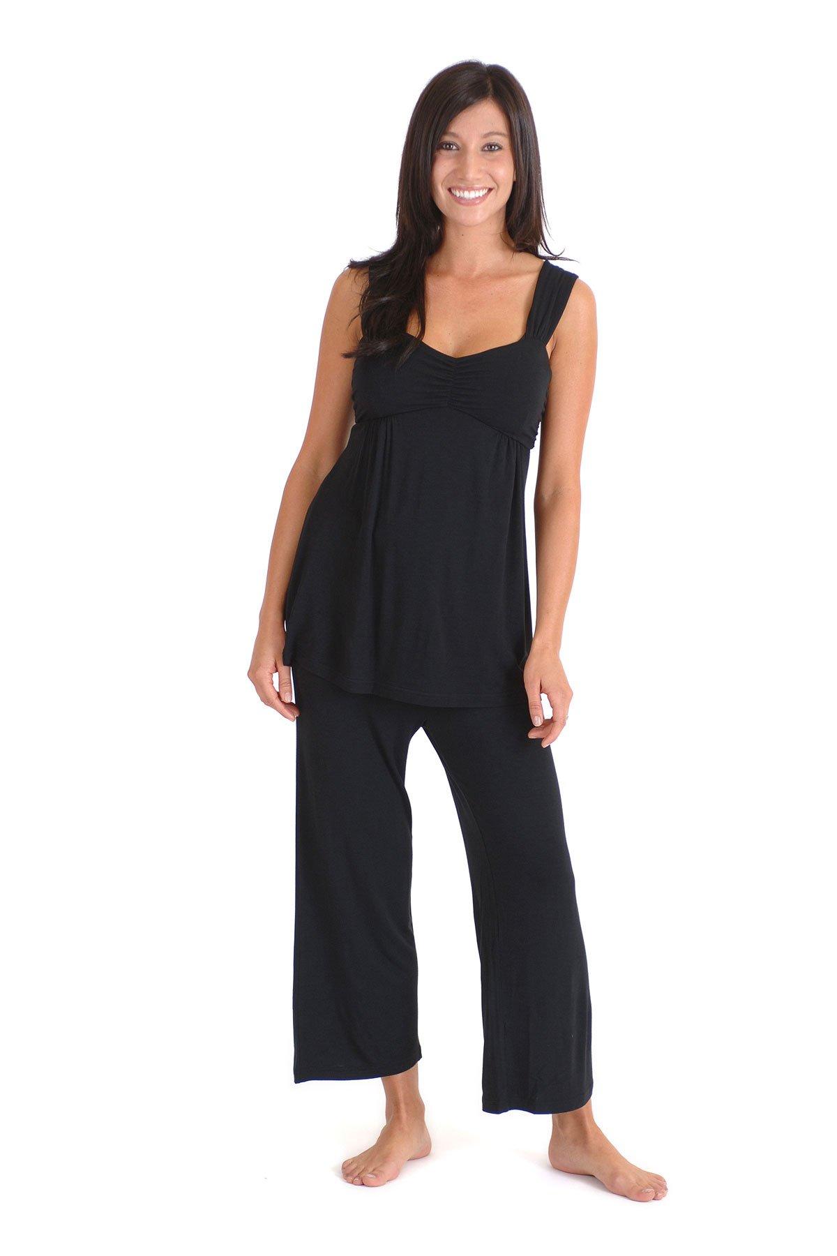 Large Black Bamboo Dreams Cleo Pajama Set